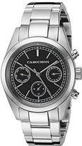 Cabochon Women's 1102 De Ce Monde Analog Display Swiss Quartz Silver Watch