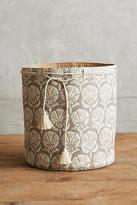 Anthropologie Elgin Canvas Basket