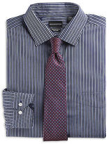 Rochester Textured Stripe Dress Shirt Casual Male XL Big & Tall