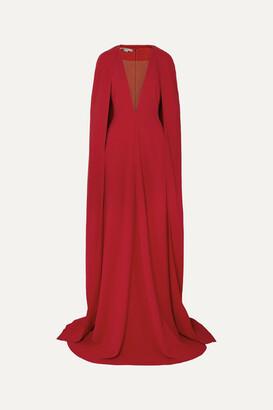 Stella McCartney + Net Sustain Mesh-paneled Cady Gown - Orange