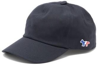 MAISON KITSUNÉ Tricolour-fox Cotton-blend Canvas Cap - Dark Blue