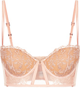 AUTOGRAFO Embroidered tulle bralet