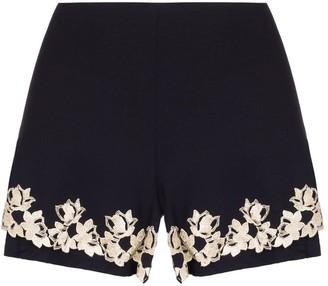 La Perla Brenda embroidered pyjama shorts