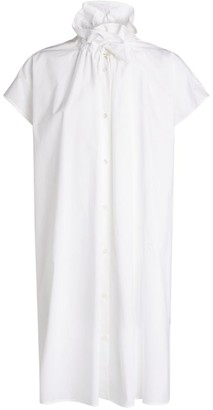 MM6 MAISON MARGIELA Poplin High-Neck Dress