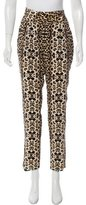 A.L.C. Silk Leopard Print Pants