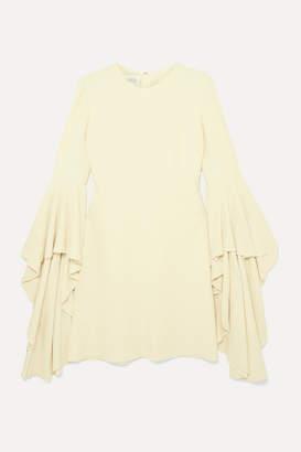 Giambattista Valli Fluted Crepe Mini Dress - Cream