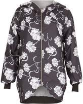 Izabel London Floral Print Hooded Jacket
