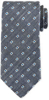 Eton Neat Foulard Silk Tie, Gray