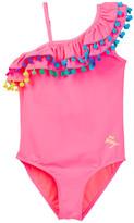 Betsey Johnson Pompom One-Piece Swimsuit (Toddler Girls)