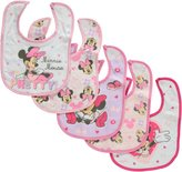"Disney Minnie Mouse ""Pretty"" 5-Pack Bibs"