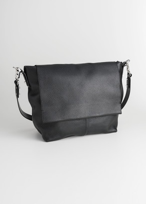 And other stories Grainy Leather Hobo Bag
