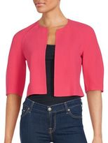 Akris Solid Wool Open Front Jacket