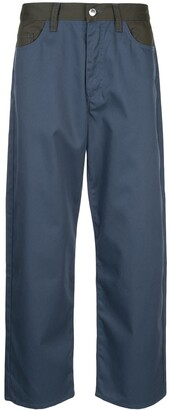 Sunnei Faux Leather-Trimmed Trousers