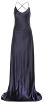Olivia von Halle Perminova Silk-satin Slip Gown