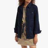 La Redoute Collections Cotton Satin Safari Jacket with Belt and Pockets