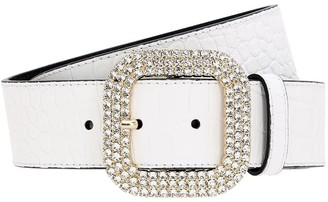 Kate Cate 40mm Croc Embossed Leather Belt