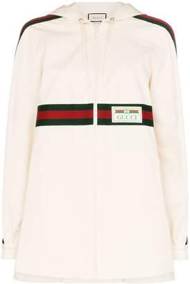 Gucci Web stripe logo patch hoodie