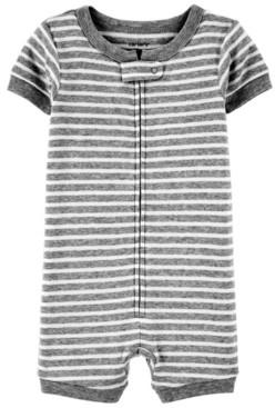 Carter's Toddler Boys or Girls Striped Snug Fit Romper Pajama Set