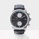 Paul Smith Men's Grey And Black 'Block' Chronograph Watch