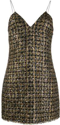 Balmain metallic short dress