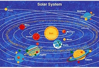Zoomie Kids Strouse Kids Solar System Blue Area Rug Rug Size: Rectangle 5' x 8'