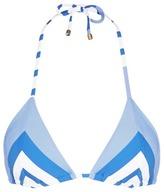 Vitamin A 'Natalie Miter' stripe bikini top
