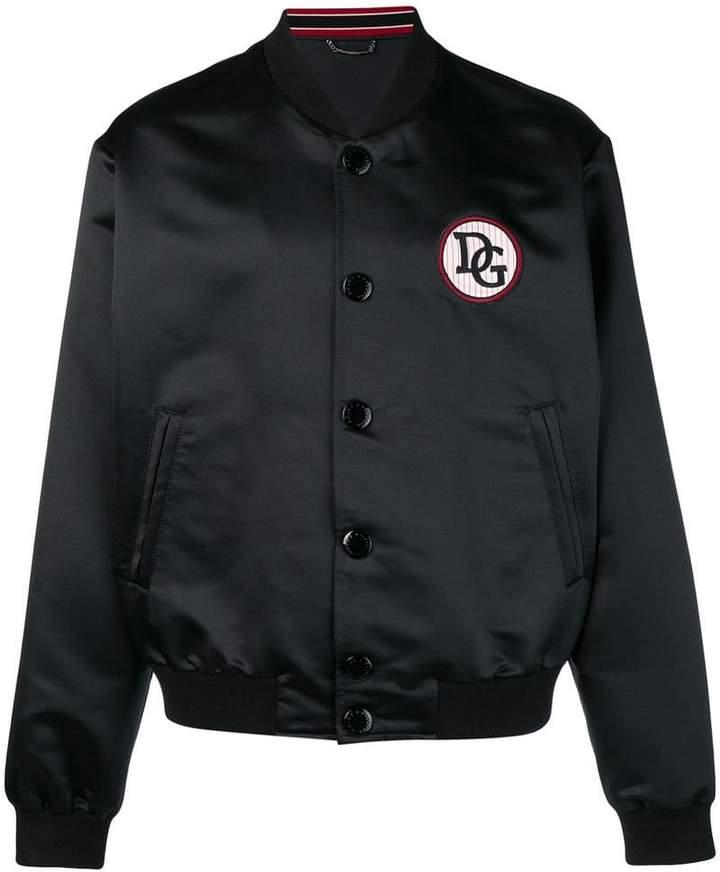 Dolce & Gabbana patch detail bomber jacket