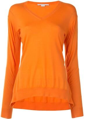 Stella McCartney oversized V-neck wool jumper