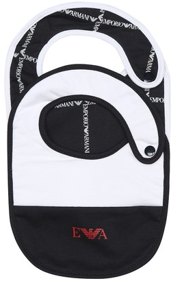 Emporio Armani Kids Baby set of cotton bibs