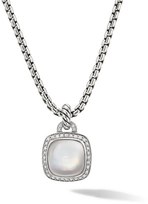 David Yurman Albion Pendant With Rock Crystal & Diamonds