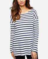 Isabella Oliver Maternity Striped Boat-Neck Top
