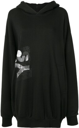 Y's Printed Logo Hooded Sweatshirt