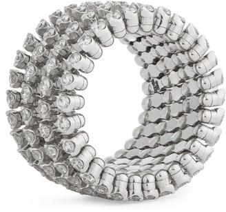 Serafino Consoli White Gold and Diamond Ring Bracelet