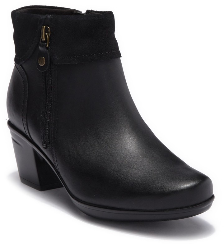 Clarks Emslie Twist Leather Ankle Boot