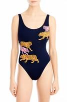 J.Crew Women's Tigers One-Piece Swimsuit