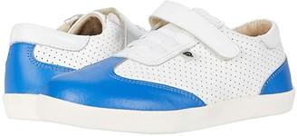 Old Soles Paver Shoe (Toddler/Little Kid) (Snow/Neon Blue) Boy's Shoes