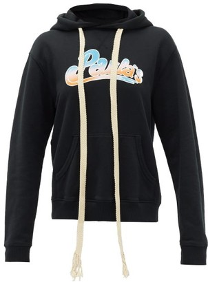 Loewe Paula's Ibiza - Hooded Logo-print Hooded Sweatshirt - Black