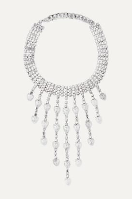 Alessandra Rich Silver-tone Crystal Choker