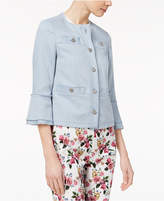 Marella Cotton Stretch Twill Bell-Sleeve Jacket