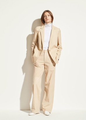 Vince Nubuck Leather Wide Leg Pant