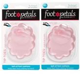 Foot Petals Women's Tip Toes For Flip Flops 2-Pack