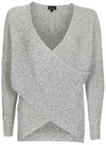 Topshop Twist wrap front jumper