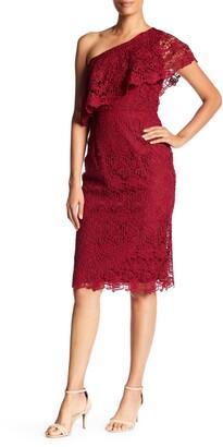 Nanette Nanette Lepore One Shoulder Lace Sheath Dress