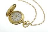 Jean Pierre gold-plated Hunter quartz pendant watch