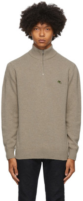 Etro Beige Wool Half-Zip Sweater