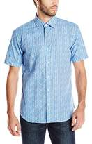 Bugatchi Men's Sabatino Short Sleeve Shaped Button Down Shirt