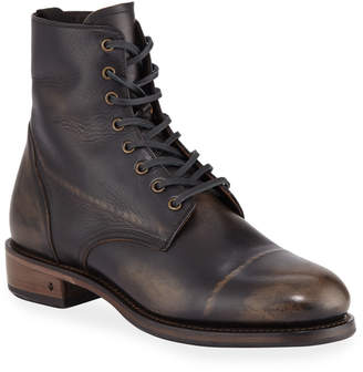 John Varvatos Men's Folsom Leather Lace-Up Boot