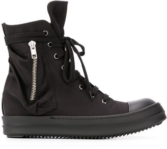 Rick Owens High-Top Lace-Up Sneakers