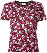 Saint Laurent floral print T-shirt - women - Cotton - XS