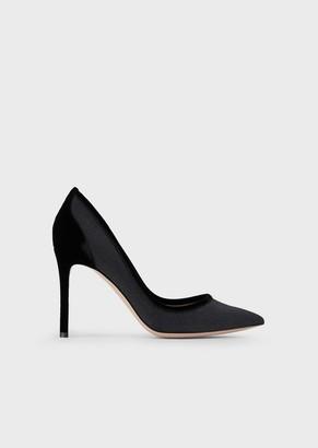 Giorgio Armani Glitter Fabric Court Shoes With Stiletto Heel